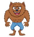 Werewolf Character Grinning Wildly Royalty Free Stock Photo