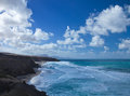 West coast of Fuerteventura at La Pared Stock Image