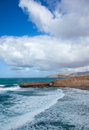 West coast of Fuerteventura at La Pared Royalty Free Stock Photos