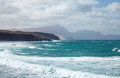 West coast of Fuerteventura at La Pared Royalty Free Stock Photography