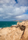 West coast of Fuerteventura at La Pared Stock Photography