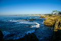 West Coast View of the Pacific Ocean in Southern California Royalty Free Stock Photo