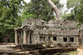 West  Entrance of Ta Prohm Temple Royalty Free Stock Photo