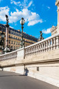 West facade of grand opera opera garnier paris france architectural details national de is famous neo baroque building in Stock Photos