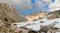 West Face of Mount Whitney Stock Photography