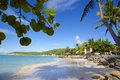 West indies caribbean antigua st georges dickenson bay beach view of and Royalty Free Stock Photos
