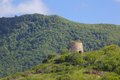 West indies caribbean antigua st mary old windmill near ffryes beach view of Royalty Free Stock Image
