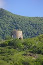 West indies caribbean antigua st mary old windmill near ffryes beach view of Stock Photo