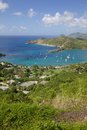 West indies caribbean antigua view of english harbour from shirley heights Stock Photo