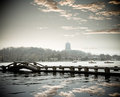 West lake of hangzhou at dusk Royalty Free Stock Photo