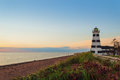 West Point Lighthouse at dusk Royalty Free Stock Photo