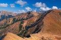 West tatra mountains slovakia mountain gap called pysne sedlo Royalty Free Stock Photography
