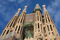 West towers of La Sagrada Familia Stock Photo