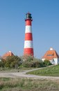 Westerheversand schleswig holstein germany lighthouse of Royalty Free Stock Photography