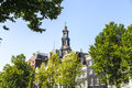 Westerkerk Spire in Amsterdam Royalty Free Stock Photo