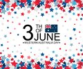Western Australia Day 3th of June celebration banner template with australian flag and stars pattern decor. Holiday poster Royalty Free Stock Photo