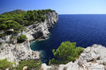 Western coast of dugi otok cliffs shore the island adriatic sea part croatia Royalty Free Stock Image