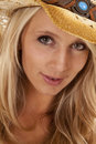 Western girl close up Stock Photography