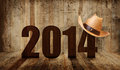Western happy new year Stock Image