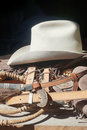 Western hat belts ropes photo of the Stock Photo