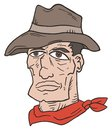 Western man face draw Stock Image