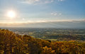 Western maryland countryside panorama a panoramic view of the valley and afternoon autumn from the mountains Stock Images