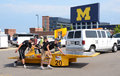 Western Michigan University's solar car Royalty Free Stock Image