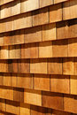 Western red cedar wood shingles - wall siding Stock Photos