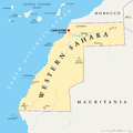 Western Sahara Political Map Royalty Free Stock Photo