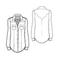 Western shirt a vector illustration of Stock Photography