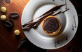 In the western style cakes on the plate egg tart,chocolate,bread,the cake,afternoon tea,coffee,chocolate Stock Photo