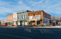 Western town a like downtown of panguitch utah usa Stock Photo