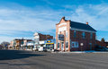 Western town a like downtown of panguitch utah usa Stock Photography
