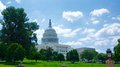 Western view of us capitol building from the lawn the united states Royalty Free Stock Photos