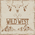 Western vintage poster