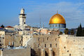 Western Wall and Dome of the Rock Royalty Free Stock Photo