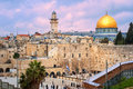 Western Wall and The Dome of the Rock, Jerusalem, Israel Royalty Free Stock Photo