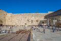 Western wall in jerusalem israel february tourists and prayers visiting and making their wishes at the wailing or kotel witch is Royalty Free Stock Photography