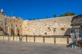 The western wall jerusalem israel february wailing or kotel is located in old city of at foot of Stock Image