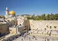 The western wall in jerusalem israel holy old town Stock Photos