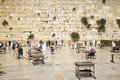 The western wall in jerusalem israel holy site Stock Images