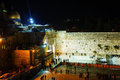 The western wall in jerusalem israel in the night december on december it s located old city of at foot of Stock Images