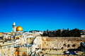 The western wall in jerusalem israel om a sunny day Royalty Free Stock Photos