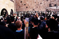 The western wall during the jewish holiday of passover jerusalem apr orthodox pray at on april in jerusalem israel Stock Photography