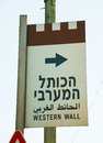 Western wall sign in jerusalem israel Stock Photography