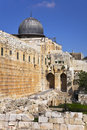 The western wall of the Temple in Jerusalem Royalty Free Stock Photography