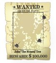 Western wanted poster Royalty Free Stock Photo