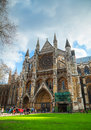 Westminster abbey church in london april collegiate of st peter at on april uk it is one of the most Stock Photo