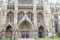 Westminster abbey facade westminster london at in england uk Royalty Free Stock Images