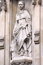 Westminster abbey london united kingdom famous church detail statue of manche masemola anglican saint and christian martyr unesco Royalty Free Stock Images